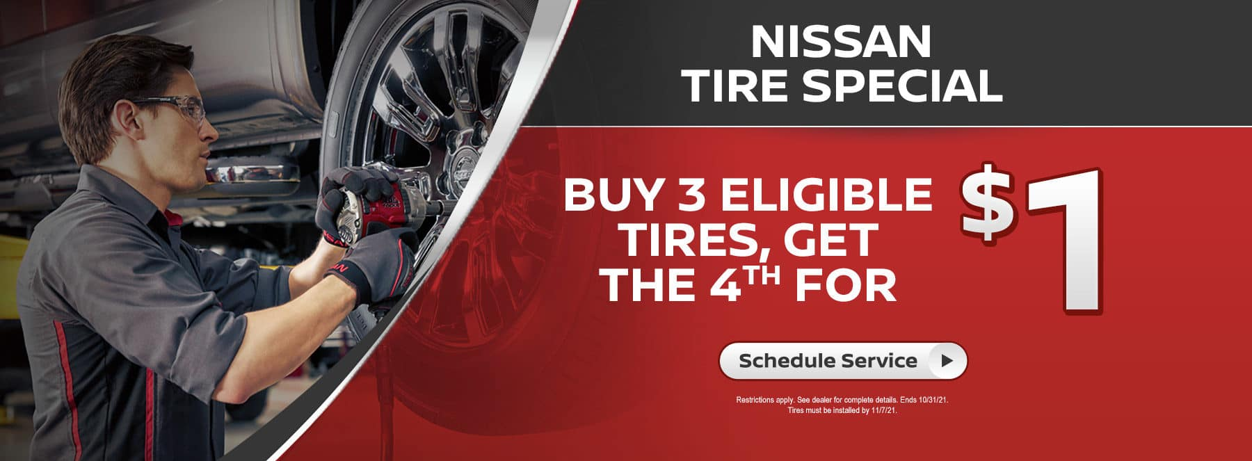 Nissan Tire Special Coupon banner