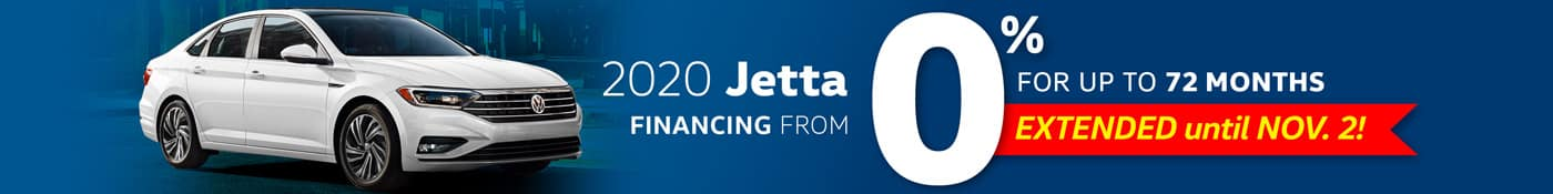 Now Extended | 0% for 72 Months on New 2020 VW Jettas