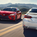 2019 Toyota Camry models on the road