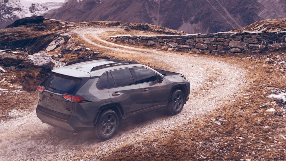 2020 Toyota RAV4 on a winding dirt road