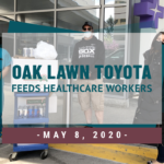 Oak Lawn Toyota feeds healthcare workers at Advocate Christ Medical Center
