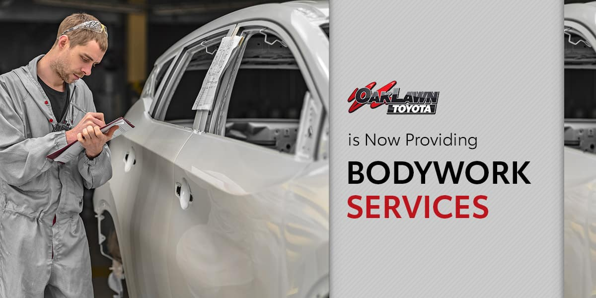 Oak Lawn Toyota is proud to announce that we are now offering  Bodywork Services!