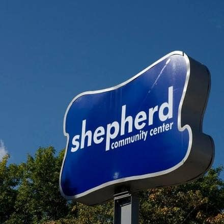 Shepherd Community Center sign