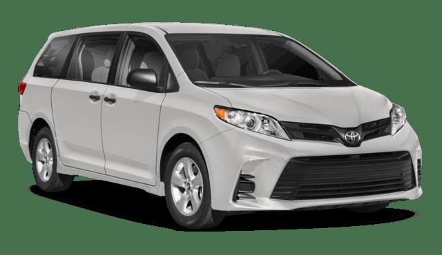 White Toyota Sienna Minivan