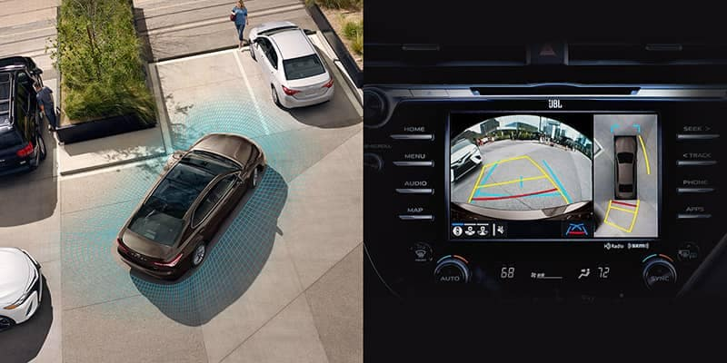 2019 Toyota Camry Birds Eye View