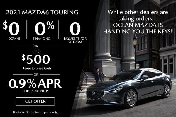 <center>New 2021 Mazda6 Touring</center>