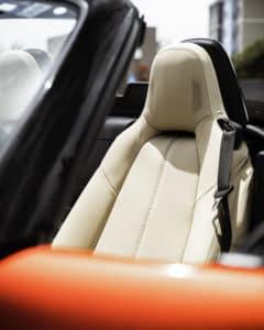 Mazda seat detail