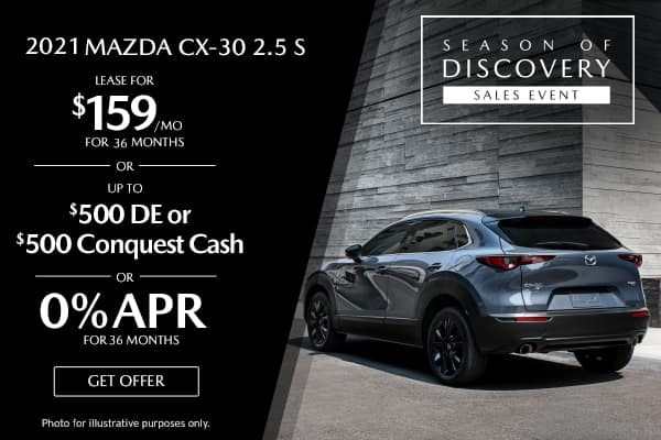 <center>New 2021 Mazda CX-30 2.5 S</center>