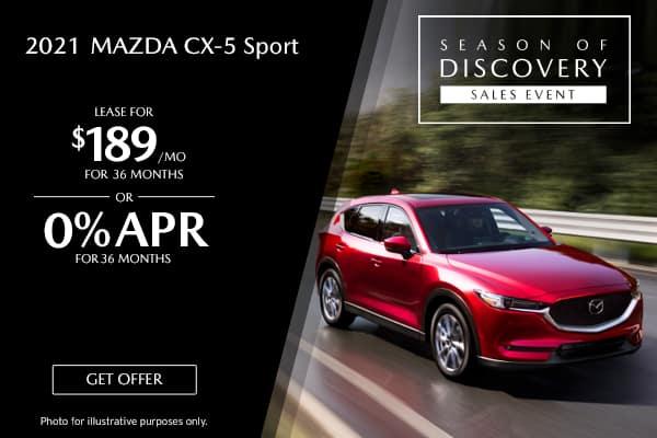 <center>New 2021 Mazda CX-5 Sport</center>