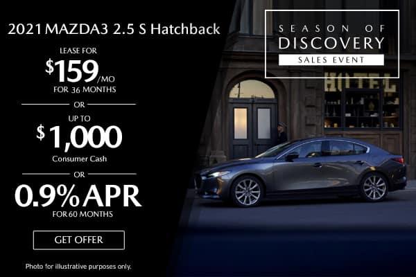 <center>New 2021 Mazda3 2.5 S Hatchback</center>
