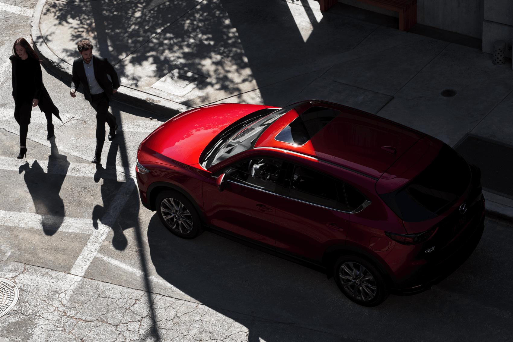 2021 Mazda CX-5 Red Safety Stopped Ocean Mazda