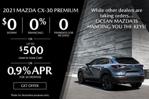 <center>New 2021 Mazda CX-30 Premium</center>