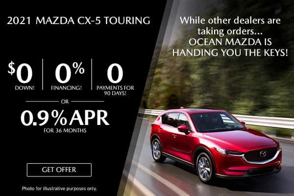 <center>New 2021 Mazda CX-5 Touring</center>