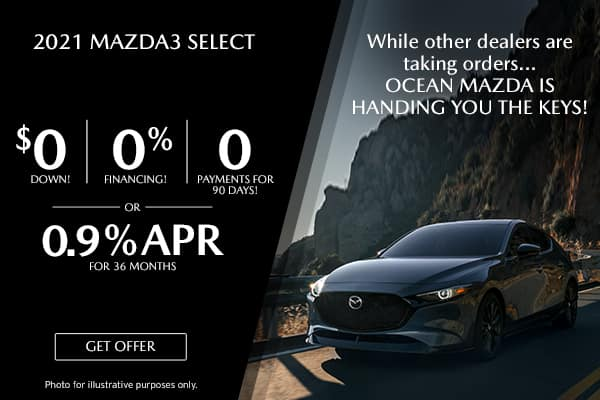 <center>New 2021 Mazda3 Select</center>