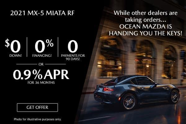 <center>New 2021 Mazda Miata RF</center>