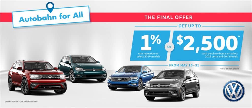 Autobahn Final Offer Pfaff Volkswagen Special