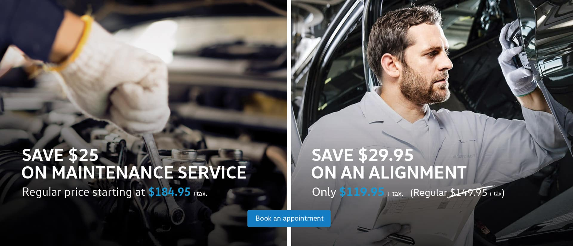 Volkswagen VW Service Parts Offer