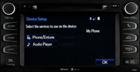 Entune Bluetooth device setup
