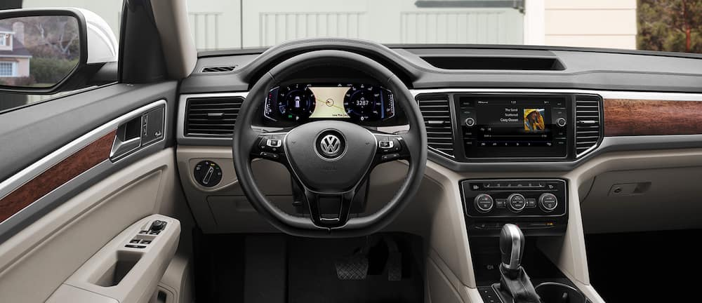 Interior view of a 2020 VW Atlas