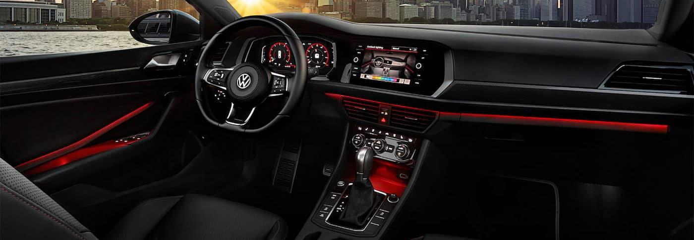 Dashboard view of a 2020 VW Jetta