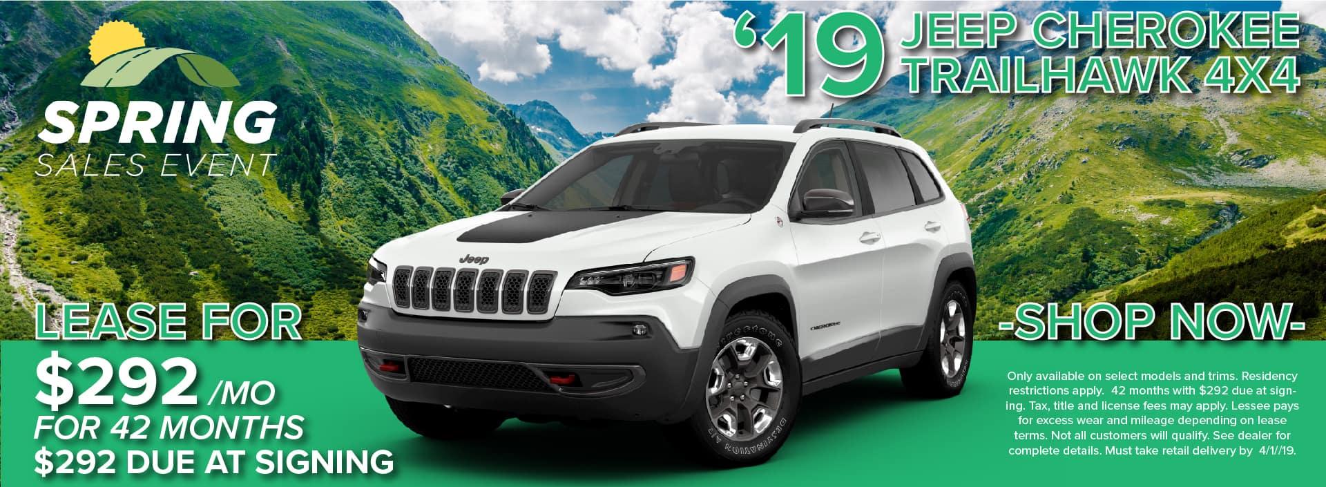 2019 Jeep Cherokee Lease and Specials in Boulder Colorado