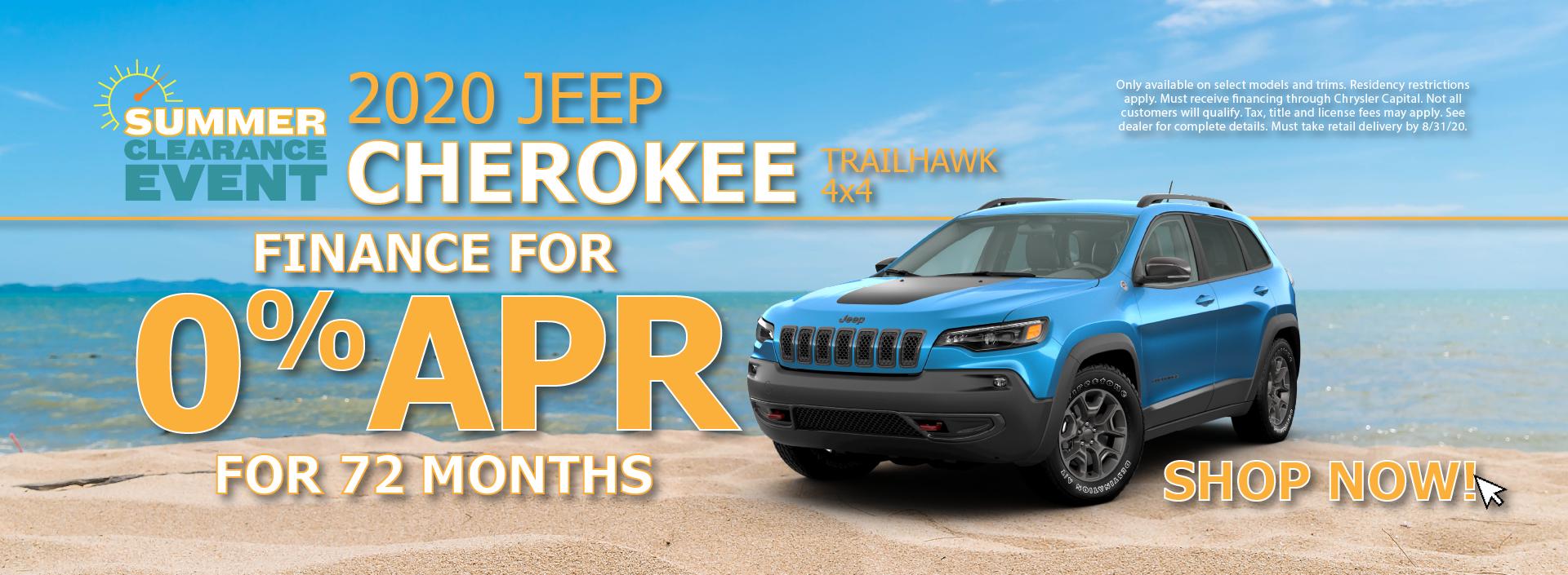 2020 Jeep Cherokee 0% APR