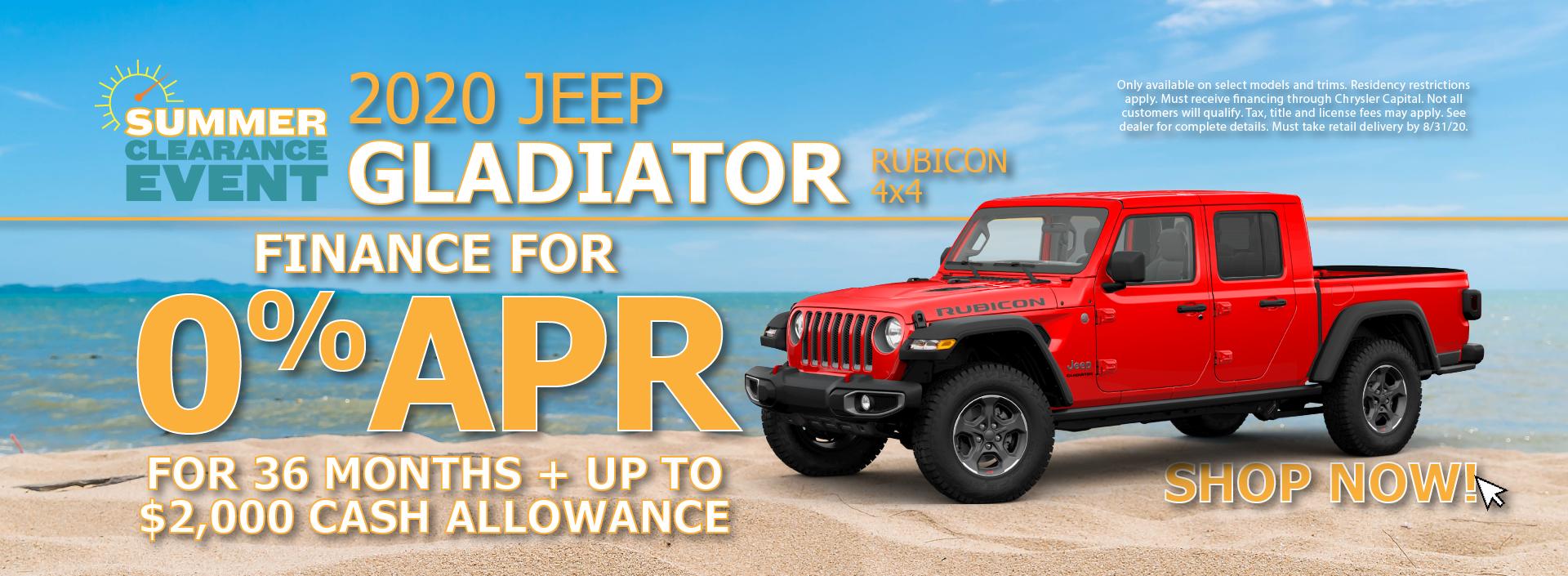 2020 Jeep Gladiator 0% APR