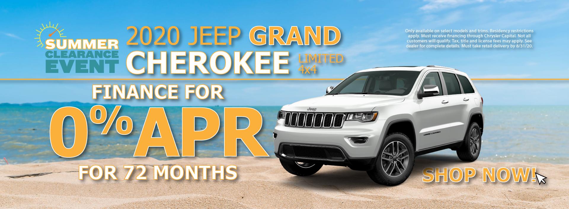 2020 Jeep Grand Cherokee 0% APR