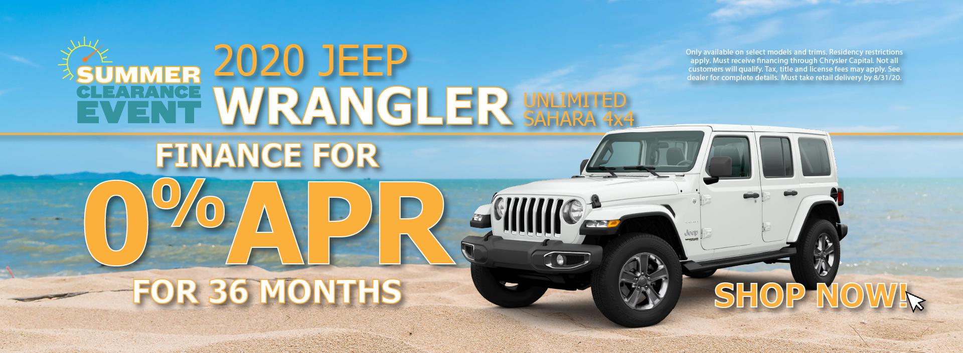 2020 Jeep Wrangler Unlimited 0% APR