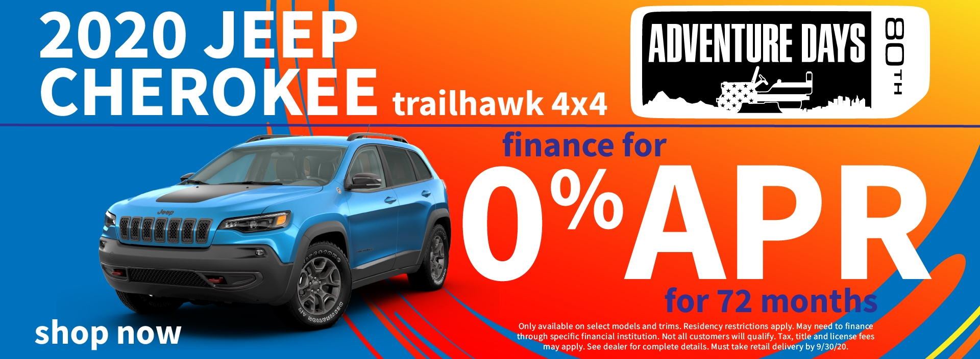 2020 Jeep Cherokee Finance Special
