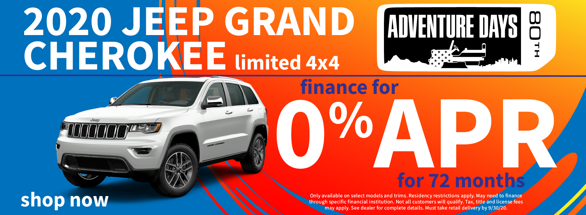 2020 Jeep Grand Cherokee Finance Special