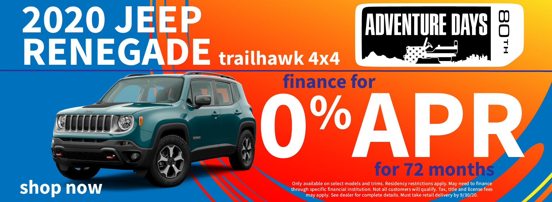 2020 Jeep Renegade Finance Special