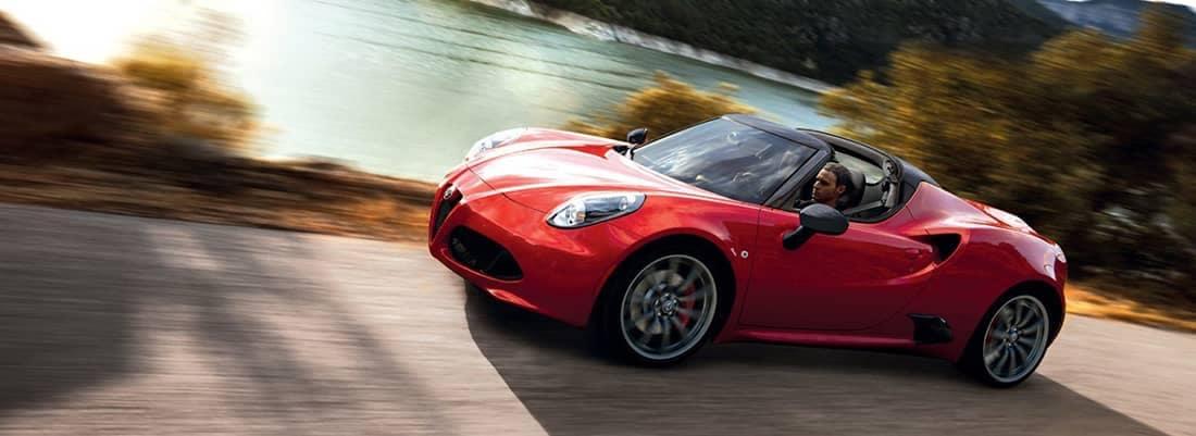 2018 Alfa Romeo 4C Coupe Driving