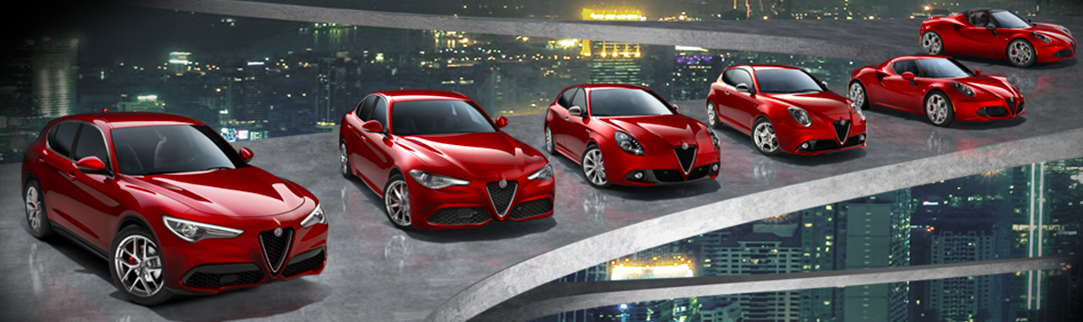 New red Alfa Romeo vehicles