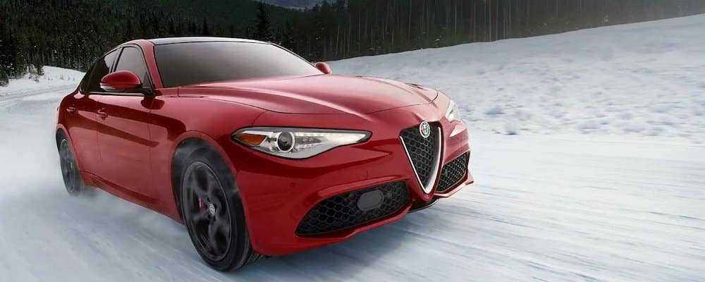 2019 giulia driving in snow