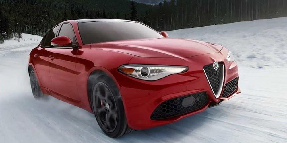 2019 giulia driving in snow
