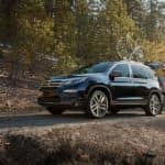 2018 Honda Pilot on a quiet road