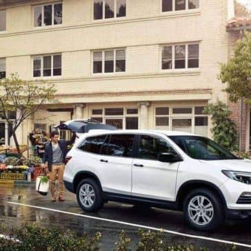 Honda Pilot EXL pearl white exterior