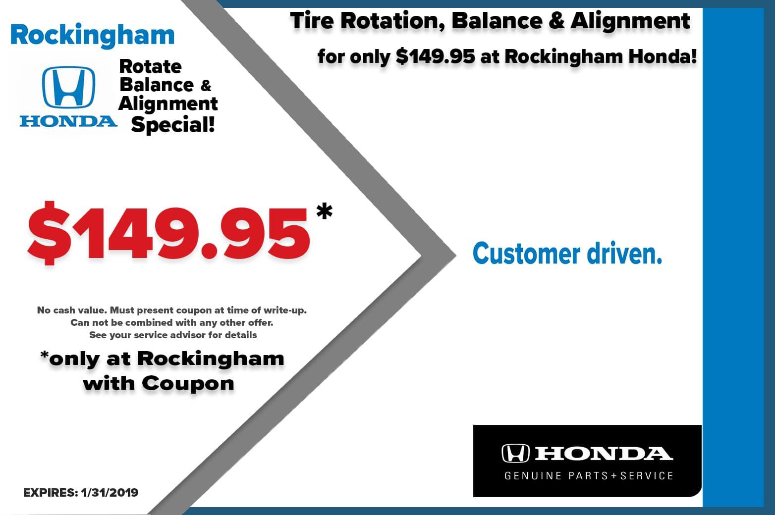 Auto Service Specials Coupons In Salem Rockingham Honda
