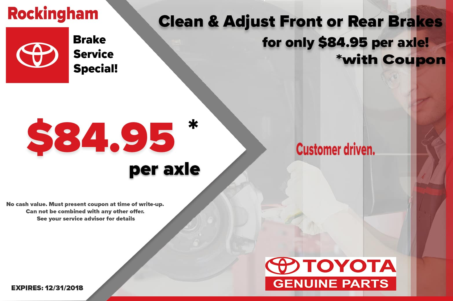 BRAKE CLEAN AND ADJUST SPECIAL