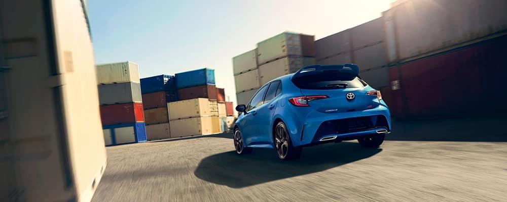 2019 Toyota Corolla Hatchback fast driving