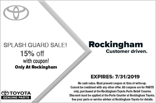 Discount Toyota Parts >> Toyota Parts Specials In Salem Toyota Auto Parts At Rockingham Toyota