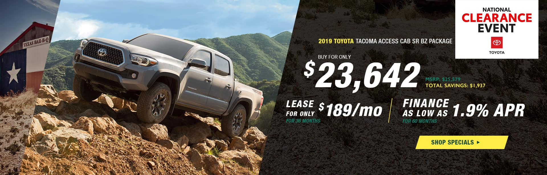 2019 Toyota Tacoma Access Cab SR BZ Package