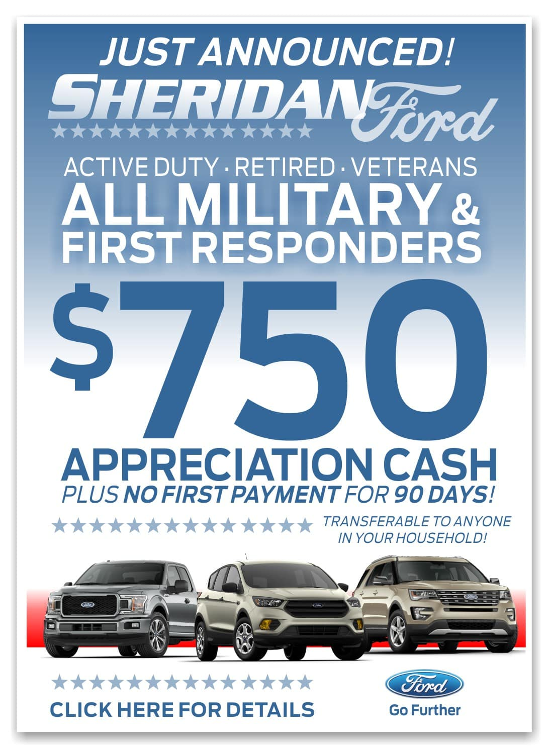 Ford First Responder >> All Military And First Responders Appreciation Cash Offer At
