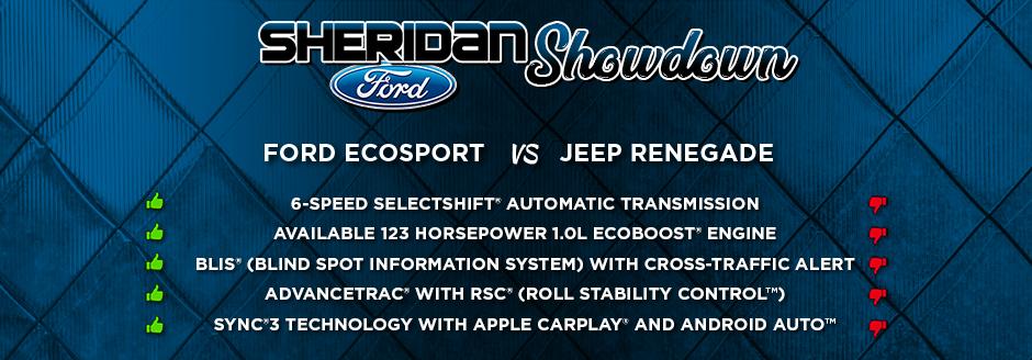 Sheridan Showdown 2018 Ford Ecosport Vs Jeep Renegade