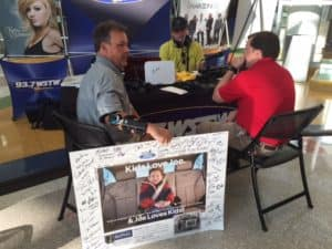Chip Sheridan on air during a past Radiothon