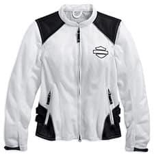 Harley Women's Callahan Mesh Riding Jacket White 98092-15VW