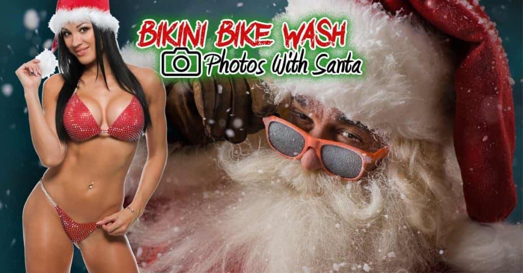 Bikini Bike Wash & Photos With Santa