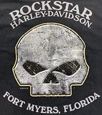 Rockstar Harley Willie G Skull T-Shirt