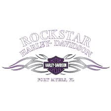 Purple Tribal Rockstar Harley T-Shirt